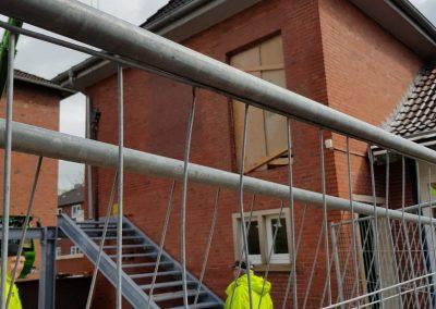 Die aktuellsten Fotos der Bauarbeiten unserer Brandschutztreppe